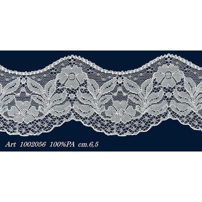 Encaje de nylon blanc valencienne altura cm.6.5 paquete mt.20 Art.1002056