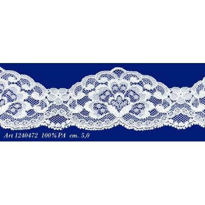 Encaje de nylon rigido blanco altura cm.5 paquete mt.20 art.1240472
