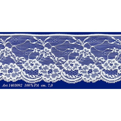 Raschel white lace trim rigid width cm.7 pack mt.20 art.1403092