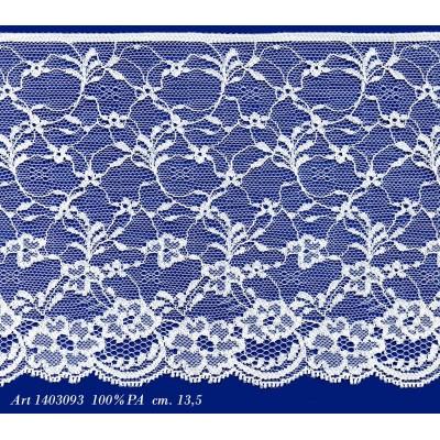 Dentelle raschel white rigid hauteur cm.13.5 paquet mt.20 art.1403093