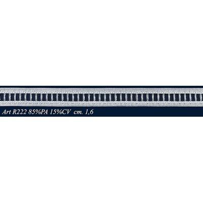 Raschel white lace ribbon width cm.1.6 pack mt.20 art.R222