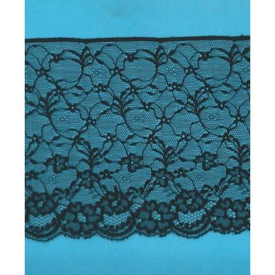 Pizzo valencienne nero rigido altezza cm.13.5 confezione mt.20 art.1403093