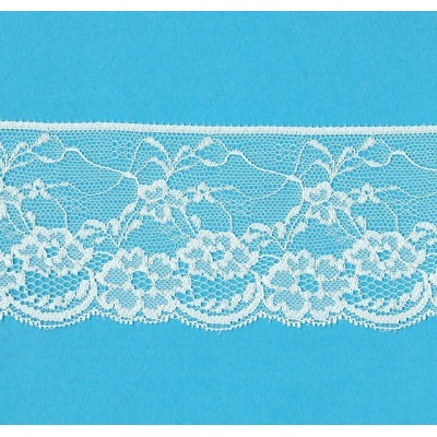 Raschel ivory lace trim rigid width cm.7 pack mt.20 art.1403092