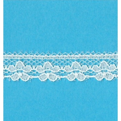 Pizzo valencienne avorio rigido altezza cm.1.3 confezione mt.20 art.1202246
