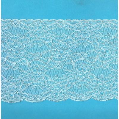 Encaje de nylon rigido marfil altura cm.14.5 paquete mt.20 art.1403