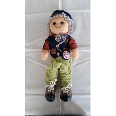 Bambola di pezza altezza cm.42 Mydoll nonno codice BL016