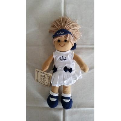 Bambola di pezza con stoffe, pizzi, nastri altezza cm.27 Mydoll CMC13 Tennis