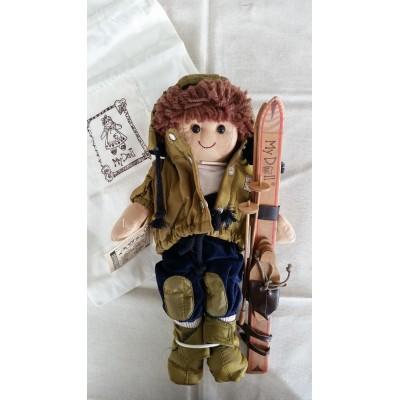 Bambola di pezza altezza cm.32 Mydoll mini sci codice DD008