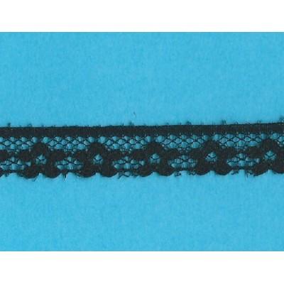Dentelle valencienne noir largeur cm.1.3 paquet mt.20 art.1202246