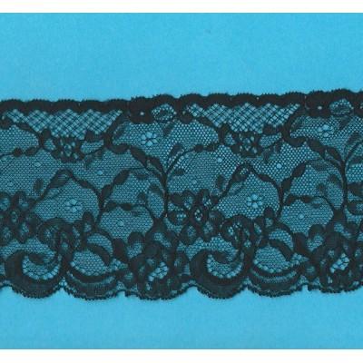 Pizzo valencienne nero rigido altezza cm.8.5 confezione mt.20 art.1003281