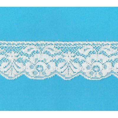 Encaje de nylon valencienne beige altura cm.4.8 paquete mt.20 Art.1003881