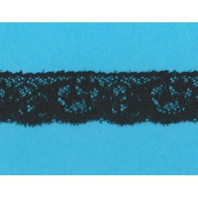Pizzo valencienne nero rigido altezza cm.3.3 confezione mt.20 art.1003879