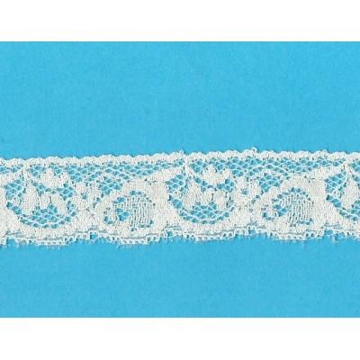 Encaje de nylon valencienne beige altura cm.3.3 paquete mt.20 Art.1003879