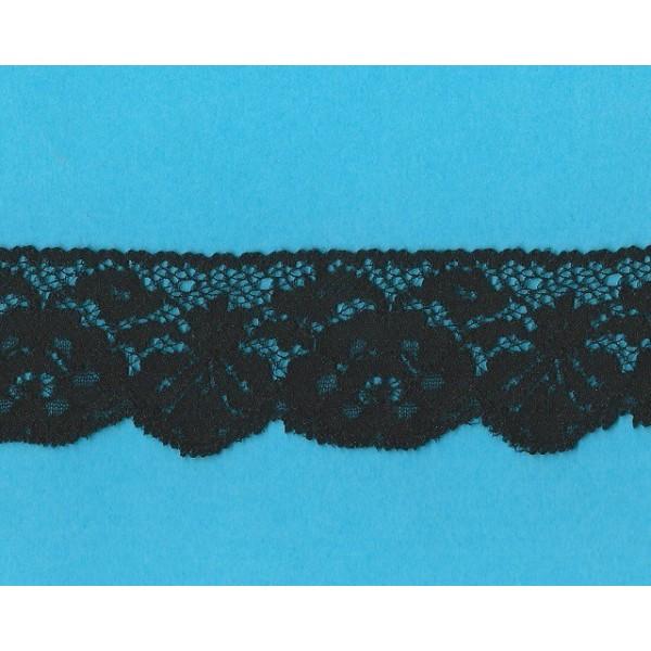 Dentelle Valenciennes Rigid Noir Largeur cm.4.8 Paquet mt.20 Art.1003881