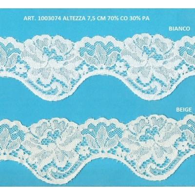 Dentelle valencienne largeur cm.7.5 paquet mt.20 art.1003074