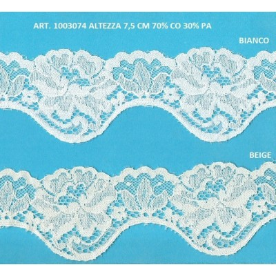 Encaje de nylon valencienne altura cm.7.5 paquete mt.20 Art.1003074