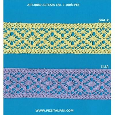 TOMBOLO PIZZO MERLETTO ALTEZZA CM.5 PEZZA MT.10 ART.0889
