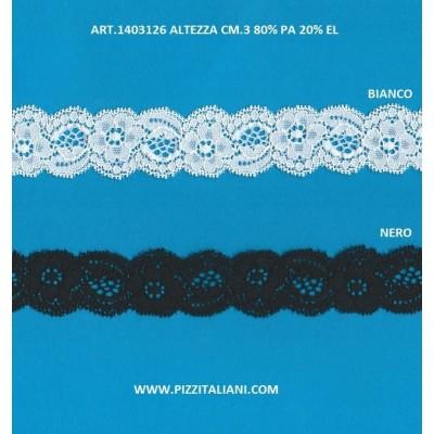 PIZZO VALENCIENNES ALTEZZA 3 CM. PEZZA MT.20 ART.1403126
