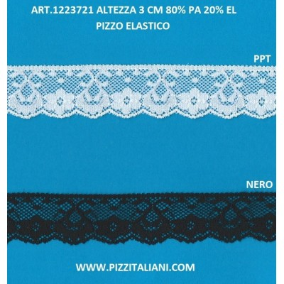 PIZZO VALENCIENNES ALTEZZA 9,2 CM. PEZZA MT.20 ART.1006011