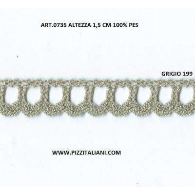 MERLETTO PIZZO SMERLO TOMBOLO CM.1,5 MT.10 ART.0735
