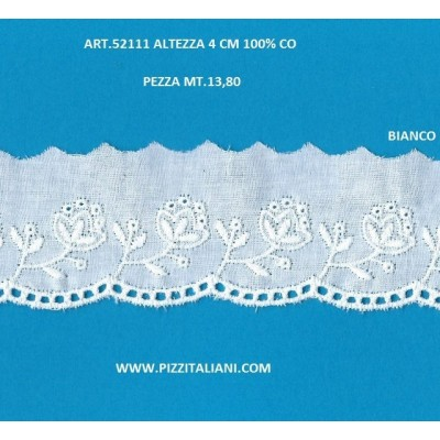 PIZZO SANGALLO ALTEZZA CM.4 PEZZA MT.13.80 ART.52111