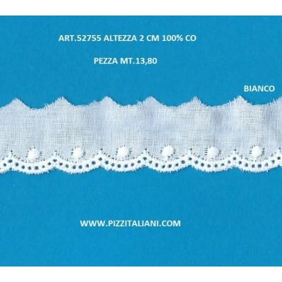 PIZZO SANGALLO ALTEZZA CM.2 PEZZA MT.13.80 ART.52755