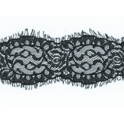 Raschel Black Rigid Lace Ribbon Width cm.7 Pack mt.20 Art.1401132