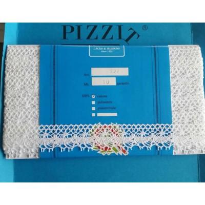 MERLETTO COTONE PIZZO PIZZI MERLETTI TOMBOLO ALTEZZA CM.2.5 MT.10 ART.0997