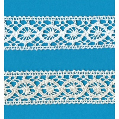 TORCHON TRIM LACE BOBBIN CLUNY CROCHET WIDTH 1.5 CM. PACK MT.10 ART.163
