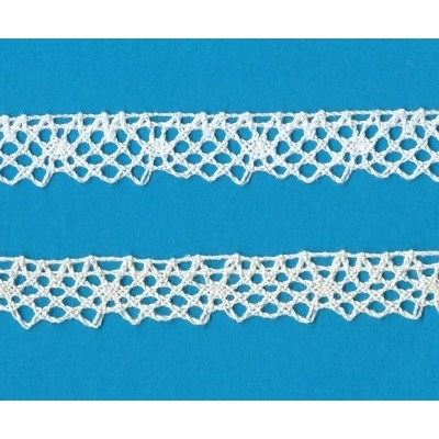 Cotton Lace Trim Scalloped Ribbon Width cm.1 pack mt.10 art.0991