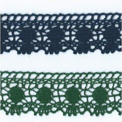 Lace Ribbon Green and Blue Lace Height cm.4 Package mt.10 ART.1306