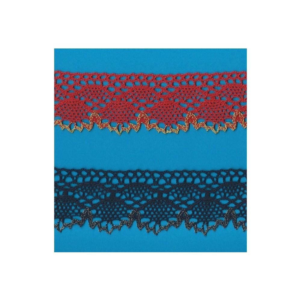 TORCHON COTTON LUREX LACE CM.5.5 MT.10 ART.1572/CO/ME