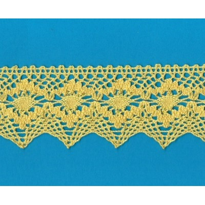 COTTON LACE RIBBON WIDE CM.5,5 PACK MT.10 ART.1505