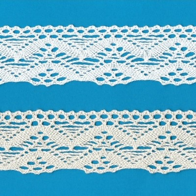 COTTON LACE RIBBON WIDE CM.5,5 PACK MT.10 ART.1612