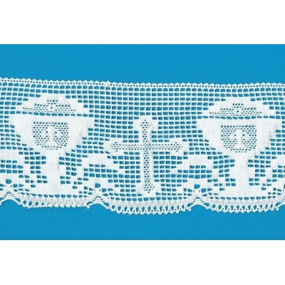 COTTON RELIGIOUS LACE RIBBON WIDE CM.11,5 PACK MT.10 ART.1375