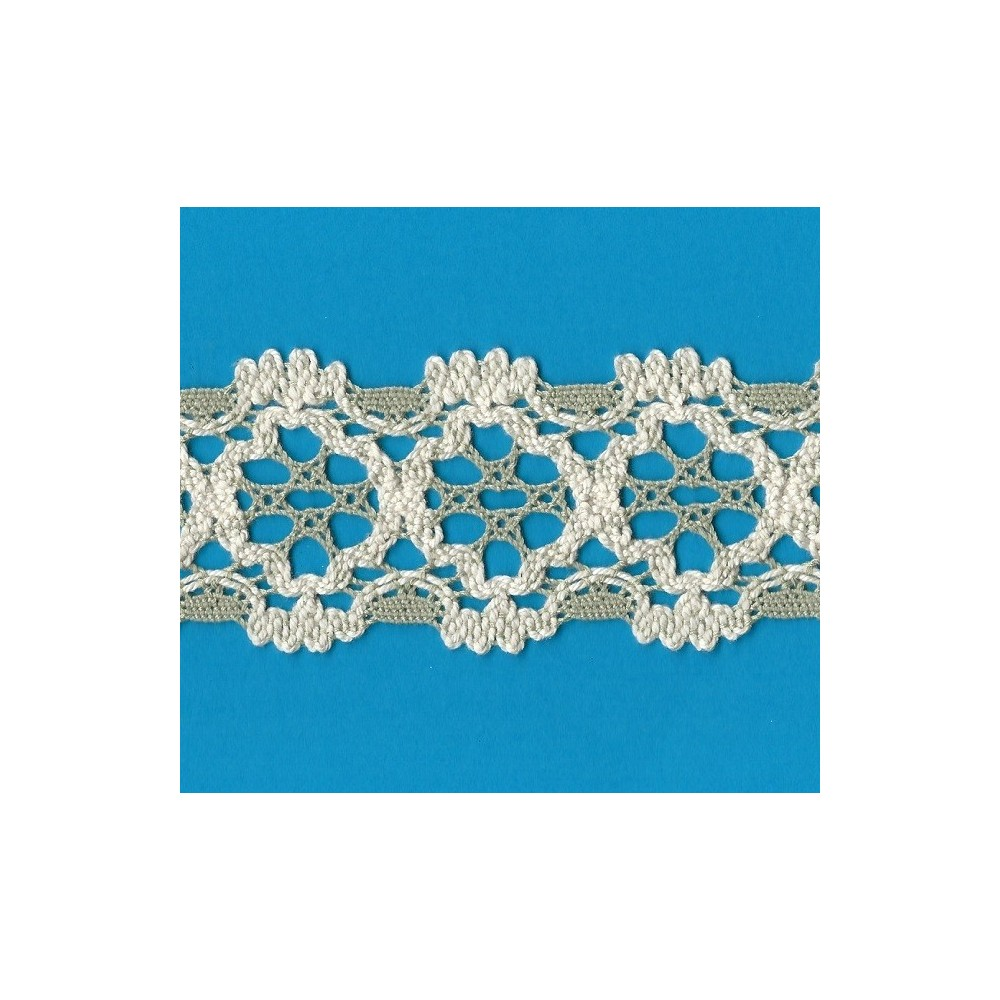 COTTON LACE RIBBON WIDE CM.5.5 PACK MT.10 ART.1642