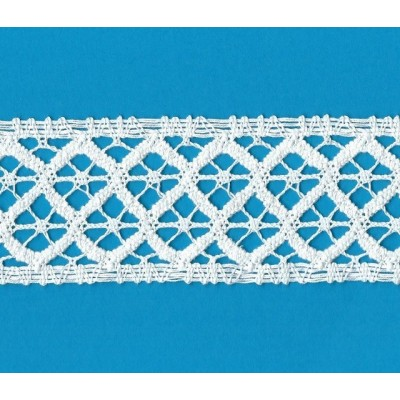 Bobbin Lace Ribbon for crafts edged trimming for sewing Width cm.5 Pack mt.10 Art.1809