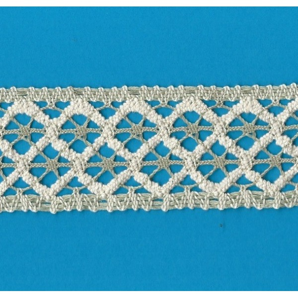 COTTON LACE RIBBON WIDE CM.5 PACK MT.10 ART.1809