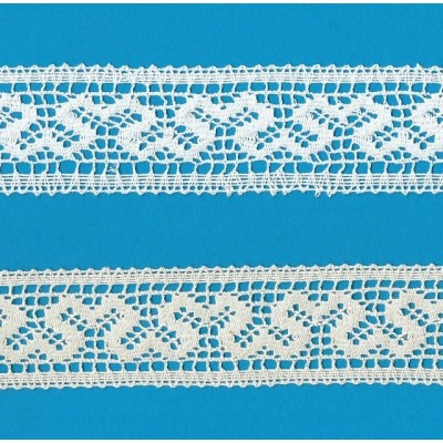Edged Bobbin Lace with geometric pattern width cm.4 pack mt.10 Art.1356