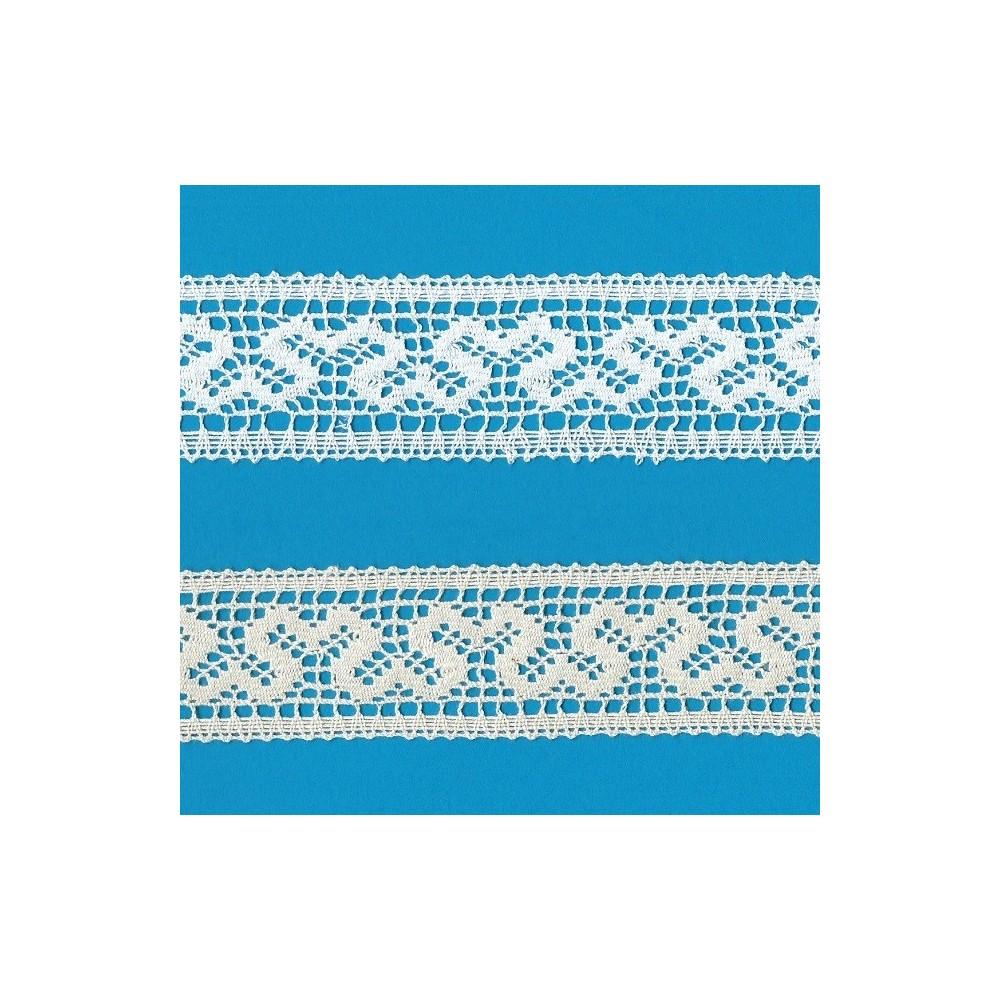 Edged Bobbin Lace with geometric pattern width cm.4 pack mt.10 Art.1356
