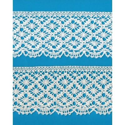 Cotton Lace Trim Cluny Torchon width cm.7 pack mt.10 Art.0491