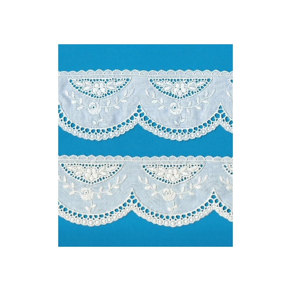 Eyelet Braided Cotton Lace width cm.7 pack mt.12.10 Art.52709