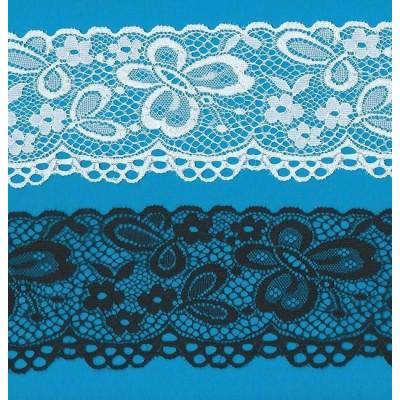 Raschel lace trim rigid width cm.7.5 pack mt.20 art.r739