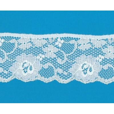 Encaje de nylon elastico altura cm.7.5 paquete mt.20 art.1000291