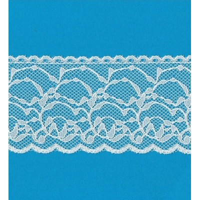 Encaje de nylon rigido altura cm.6 paquete mt.20 art.1205281