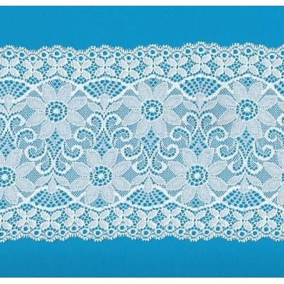 Encaje de nylon elastico altura cm.14.5 paquete mt.20 art.1001217