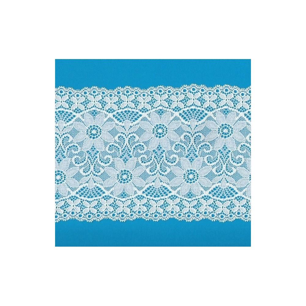 Pizzo valencienne elastico altezza cm.14.5 confezione mt.20 art.1001217