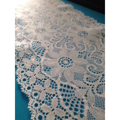 Raschel lace elastic width cm.14.5 pack mt.20 art.1001217