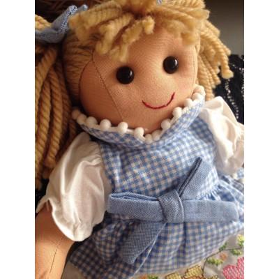 Bambola di pezza altezza cm.32 Mydoll mini vichy