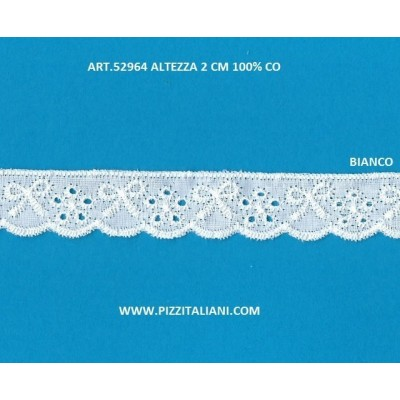 Eyelet Braided Cotton Lace width cm.2 pack mt.13.80 Art.52964